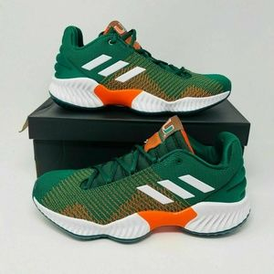Adidas Pro Bounce Low Shoes Miami Hurricanes sz 9